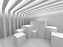 Abstract Geometric White Modern Background. 3d Render Illustration Stock Photo