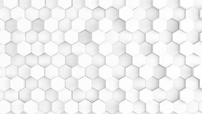 Abstract geometric white texture background. 3d illustration Stock Photography