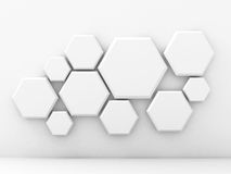Abstract Geometric White Wall Background Stock Photo