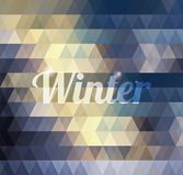 Abstract geometric winter background Stock Photos