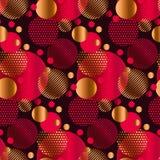 Abstract geometric xmas mood seamless pattern. Stock Photography