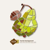 Abstract geometric yellow pear. Elegant vector Stock Images