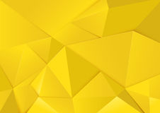 Abstract geometric yellow tone polygon and triangles background. Abstract geometric yellow polygon and triangles background Stock Photos