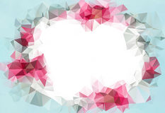 Abstract Geometrical Backdrop. Design for business presentations or web template.Valentine light pink background. With space for your text royalty free illustration