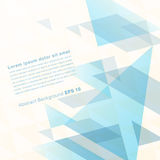 Abstract geometrical background with blue triangles and space fo Royalty Free Stock Photos