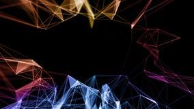 Abstract Geometrical Background ..Futuristic technology style. Neon Sign . HUD Element . Elegant . Big data. Abstract Geometrical Background ..Futuristic royalty free illustration