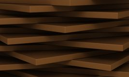 Abstract geometrical background. Horizontal 3d rectangles Stock Images