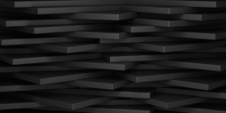 Abstract geometrical background. Horizontal 3d rectangles Stock Photo