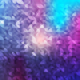 Abstract geometrical  background. Mosaic abstract texture, light backdrop. Purple Lights Festive background. Creative design Stock Photo