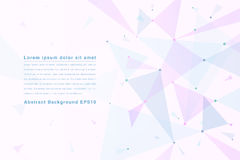 Abstract geometrical background with pink triangles and space  Royalty Free Stock Images