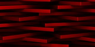 Abstract geometrical background. Red abstract geometrical background. horizontal 3d rectangles Royalty Free Stock Photo