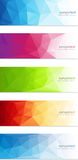 Abstract geometrical banner background Stock Photo