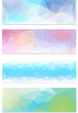 Abstract geometrical banner Royalty Free Stock Photography