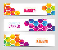 Abstract Geometrical Banners Royalty Free Stock Photography