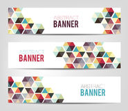 Abstract Geometrical Banners Stock Images