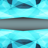 Abstract geometrical blue background. Vector Royalty Free Stock Photos