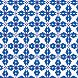 Abstract geometrical blue pattern vector background. Abstract geometrical blue floral pattern seamless vector background Stock Images