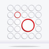 Abstract geometrical circle background Stock Photos