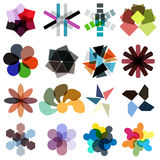 Abstract geometrical colorful business icon set Royalty Free Stock Photo