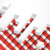 Abstract Geometrical Design. Abstract 3D Geometrical Design. Vector Illustration. Eps 10 Stock Photography