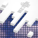 Abstract Geometrical Design. Abstract 3D Geometrical Design. Vector Illustration. Eps 10 Stock Photo