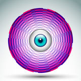 Abstract geometrical eye icon Royalty Free Stock Photography