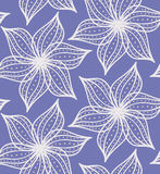 Abstract geometrical flower with pointy pedals with dots on blue Royalty Free Stock Photo
