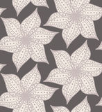 Abstract geometrical flower with pointy pedals with dots on gray Stock Photos