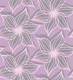 Abstract geometrical flower with pointy pedals on purple Stock Images