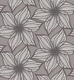 Abstract geometrical gray flower with pointy pedals with dots Royalty Free Stock Photo
