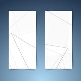 Abstract geometrical halftone grey line banner Stock Photo