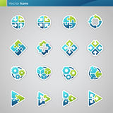 Abstract geometrical icons. Elements for design. Vector illustration Stock Photography