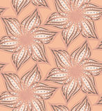 Abstract geometrical light orange flower with pointy pedals with Royalty Free Stock Photo