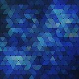 Abstract geometrical multicolored background consisting of blue triangular elements Royalty Free Stock Photo