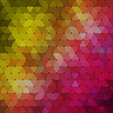 Abstract geometrical multicolored background consisting of triangular elements Royalty Free Stock Photo