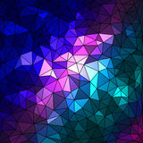Abstract geometrical multicolored background consisting of triangular elements Stock Photos