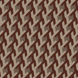 Abstract geometrical ornament of brown shades.  Royalty Free Stock Image