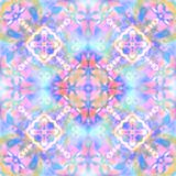 Abstract geometrical  pattern, blur pink blue background Stock Image