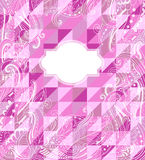 Abstract geometrical pink background Royalty Free Stock Photography