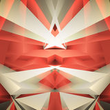 Abstract geometrical red background. Vector Illustration Royalty Free Stock Photography