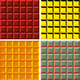 Abstract geometrical seamless pattern set Royalty Free Stock Photography