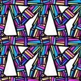 Abstract geometrical seamless rough grunge pattern, modern desig Royalty Free Stock Photos
