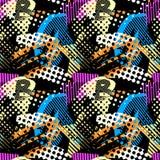 Abstract geometrical seamless rough grunge pattern, modern desig Stock Image
