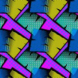 Abstract geometrical seamless rough grunge pattern, modern design template. stock photo