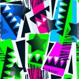 Abstract geometrical seamless rough grunge pattern, modern desig Vector Illustration