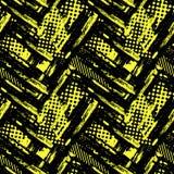 Abstract geometrical seamless rough grunge pattern, modern desig Stock Photography