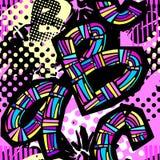 Abstract geometrical seamless rough grunge pattern, modern desig Royalty Free Stock Image