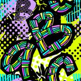 Abstract geometrical seamless rough grunge pattern, modern desig Royalty Free Stock Photo