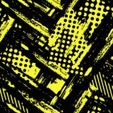 Abstract geometrical seamless rough grunge pattern, modern desig Royalty Free Stock Images