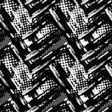 Abstract geometrical seamless rough grunge pattern, modern desig Stock Photos